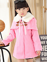 Girl's Pink / Red Jacket & Coat , Dresswear Polyester Winter / Spring / Fall
