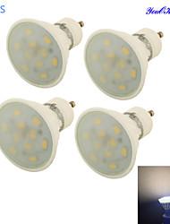 YouOKLight® 4PCS GU10 5W 10*SMD5730 Warm White Light Ceramic Spot Lights ,AC85-265V dipimpin lampu bohlam keramik