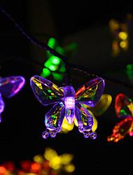 Рождество бабочка лампа привели солнечной открытый украшения по всему неба звезды ламп 4,8 млн 20LED