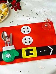 2pcs Coton mélangé Carré Sets de table