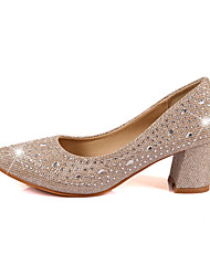 Women's Shoes Glitter Chunky Heel Heels /Autumn New Documentary Shoes Coarse Diamond Shoes Sequins Ms Hhigh Heels