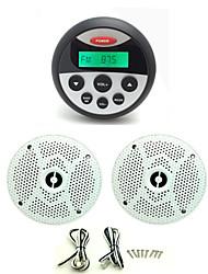Waterproof Marine Radio Stereo ATV UTV Audio Receiver+1 Pair 6.5 Inch Waterproof Speakers