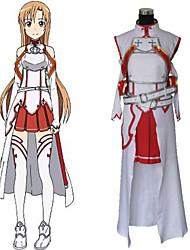Inspirado por Sword Art Online Asuna Yuuki anime Cosplay Costumes Ternos de Cosplay Patchwork Branco Manga CompridaCamisa / Peitoral /
