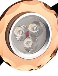 Dekorativ Einbauleuchten 3 W 3 High Power LED 300LM LM Warmes Weiß / Kühles Weiß / Natürliches Weiß AC 85-265 V