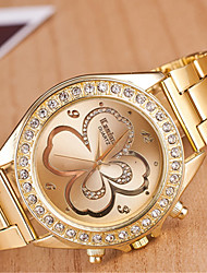 Women's Watch L.WEST Fashion Diamonds A Clover Steel Band Quartz Watch Cool Watches Unique Watches
