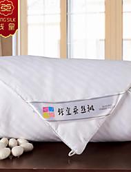 Winter Quilt warme 100% Baumwolle silk Decke weißen Daunenhandarbeit Decke vier Jahreszeiten Quilts gestreifte Bettwäsche Set