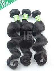 Индийские волосы 3шт человека / серия свободная волна 12-30 дюймов натуральный цвет волос человека расширение