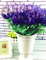 A Bunch Of 10 Fork Polyester Lavender Artificial Flowers 10PCS
