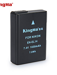 KingMa EN-EL14 Digital Camera Battery for Nikon D3100 D3200 D3300 D5100 D5200 D5300 P7000 P7100 MH-24