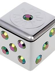 mini posacenere portatile stile dadi universale per auto d'argento