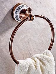 Neoclassical Rose Gold Wall Mounted Towel Rings