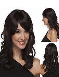 Europe Natural Hair New Long Black Curly Hair Wig