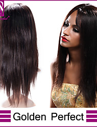 Women Full Lace Wig 14inch~24inch Brazilian Hair Color(#1 #1B #2 #4) Straight Hair