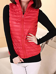 Women's Solid Blue / Red / Black Vest , Stand Sleeveless