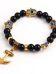 Fashion Woman European Style Anchor Shape Elasticity Strand Bracelet(Random Color)