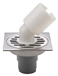 ENZORODI Bathroom Accessory,4 inch Wash Machine Floor Drain ,Contemporary Chrome Finish Stainless Steel ERD833CP