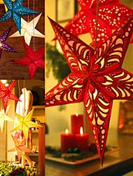 "6pcs / set 30-110cm / 12-43 ""christmas tree ornament party hängen Pentagramm Lampenschirm Dekorationen Weihnachtsbaum Wohnkultur"