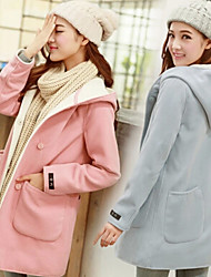 Women's Going out Cute Coat Long Sleeve Winter Medium