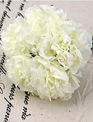 A Bunch Of 5 Head Of  Polyester Peonies Artificial Flowers