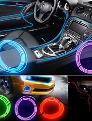 YOBO DIY Car Decoration Light Control Flexible Car Decoration 3W 240lm  Light EL Strip - (DC 12V / 5M)
