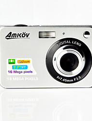 "AMKOV CDC3 Digital Camera 16.0MP 2.7""LCD Screen 550mAh Lithium Battery HD Digital Camera"