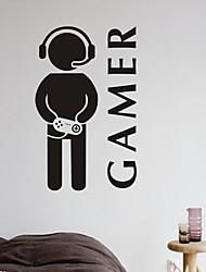 Cartoni animati / Fashion / Persone / Tempo libero Adesivi murali Adesivi aereo da parete , PVC W30cm x L48cm ( W11.8'' x L18'' )
