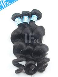 Malaysian Hair Bundles Loose Wave Malaysian Human Hair 3Pcs/Lot Color 1B Hair Weft