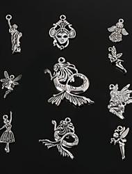 Beadia Antique Silver Metal Charm Pendants Queen&The Statue of Liberty&Angel&Mermaid DIY Pendant