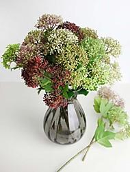 Plástico / Gel de Sílice Plantas Flores Artificiales