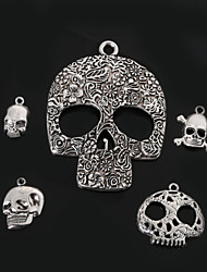 Beadia Metal Skull Charm Pendants Antique Silver Plated DIY Jewelry Accessories