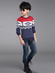 Boy's Fashion Cotton/Polyester/ Spring / Fall Stripes Long Sleeve Tee