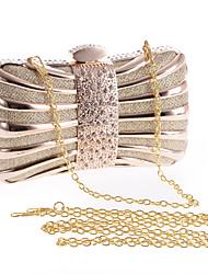 L.WEST®  Women's  Event/Party / Wedding / Evening Bag The Metal Inlaid Diamonds Delicate Handbag