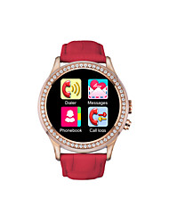 """NO.1 Smart Watch with diamond D2, MTK 2502,Support IOS and Android system,1.22"""" IPS, Heart Rate, Smart Wake for Ladies"""