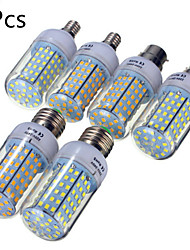 5 pcs E14 / E26/E27 / B22 20 W 126 SMD 2835 1850 LM Warm White / Cool White LED Corn Bulbs AC 220-240 V