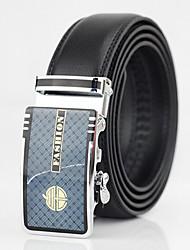 Men Calfskin Waist Belt , Vintage / Casual Gold