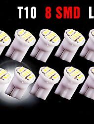 10 x blanc t10 8-SMD 3020 conduit coin lampe à ampoule côté W5W 194 168 501 12v