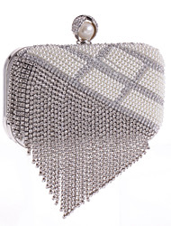 L.WEST®  Women's Pearl Diamonds Tassel Delicate Evening Bag