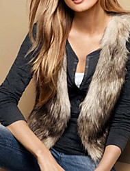 Women Faux Fur Outerwear , Lined