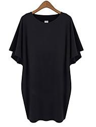 Women's Solid color  dress (cotton)