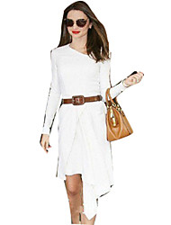 Women's Solid White Dress(cotton)