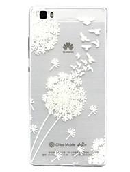 Pour Coque Huawei P9 P9 Lite P8 P8 Lite Transparente Coque Coque Arrière Coque Pissenlit Flexible PUT pour HuaweiHuawei P9 Huawei P9 Lite