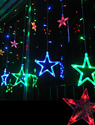 Christmas Curtain Ktv Bars Wedding 12 Stars Lights  Led Decoration Lamps Waterproof String Light 2M 168LED