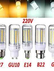 18W E14 / G9 / GU10 / B22 / E26/E27 LED-maissilamput T 102 SMD 2835 1650 lm Lämmin valkoinen / Kylmä valkoinen Koristeltu AC 220-240 V1