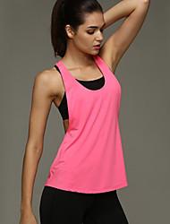 Running Tank / Tops Women's Sleeveless Wearable / Lightweight Materials / Soft / Sweat-wicking / Compression TeryleneYoga / Pilates /