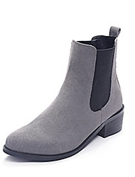 Women's Shoes Leather Chunky Heel Cowboy / Western Boots / Snow Boots / Riding Boots / Combat Boots/ BootsOutdoor