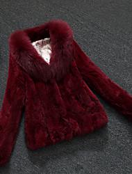 Women Fox Fur / Rex Rabbit Fur Top , Belt Not Included