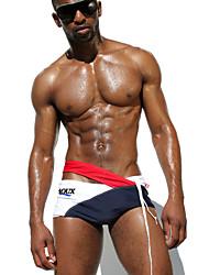 2015 New Men's Swimwear Low & Sexy Men's Swim Brief Fashion High Quality Sportive Beachwear for Men Swimsuit