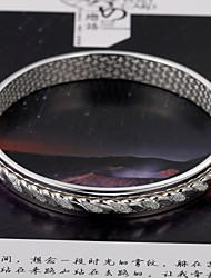 mode eenvoudige rotatie van duizend mooie zilveren armband liefde met elkaar verweven S999