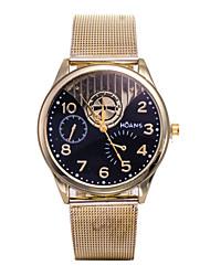 Unisex Fashion Watch The New Gold Belt Male Quartz Watch Ms.