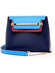 Women PU Shopper Shoulder Bag / Tote - Blue